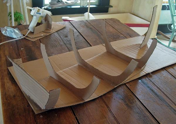 Большой корабль своими руками из картона 39
