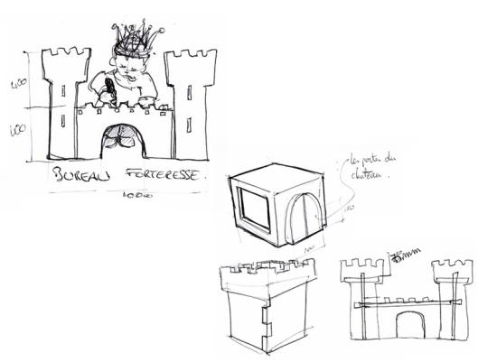 стол-крепость