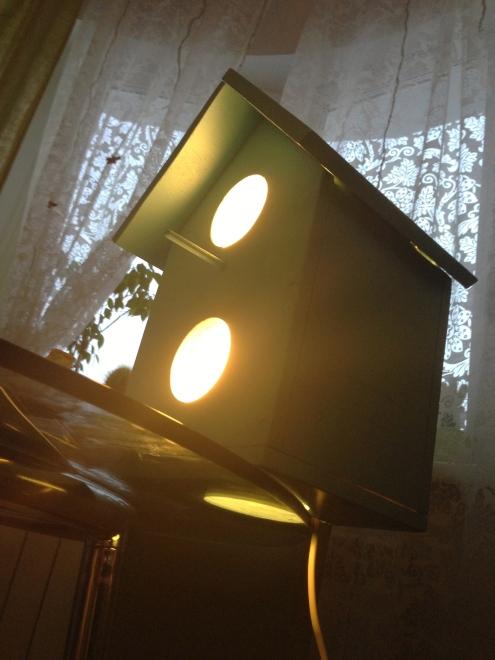 Скворечник-лампа