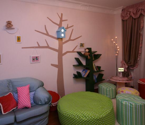 полка дерево и скворечник-ночник Marinezzz для детской