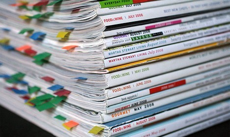 стопка кулинарных журналов