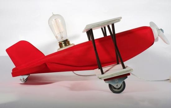 Светильник Красный биплан только Эдисон II